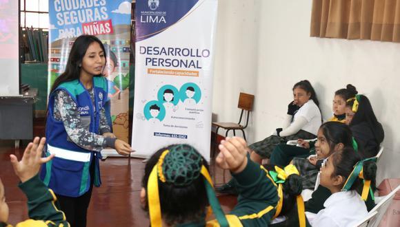 """La iniciativa, denominada """"Club de campeonas y campeones del cambio"""". comenzará a implementarse en el colegio estatal Héroes del Cenepa. (Municipalidad de Lima)"""