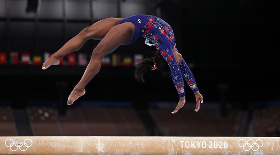 Simone Biles ya tiene en su palmarés cinco medallas olímpicas (cuatro oros y un bronce, todas en Rio 2016) y 19 títulos mundiales, puede aspirar en Tokio-2020 a seis oros. (Getty Images)