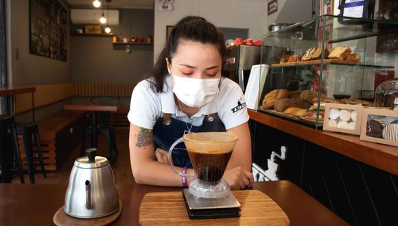 Andrea Milano, barista del café miraflorino. Foto: Katherine Fernández