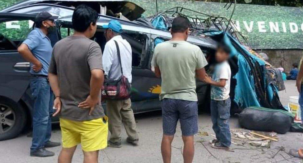 Ucayali: Cinco pasajeros mueren al caer roca sobre miniván en carretera Federico Basadre | VIDEO