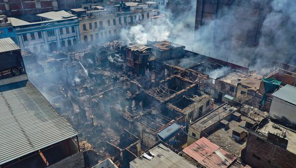 ENTRE ESCOMBROS Alcalde Muñoz anunció evaluación de daños (Giancarlo Ávila).