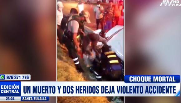 El accidente de tránsito ocurrió en Santa Eulalia. (ATV)