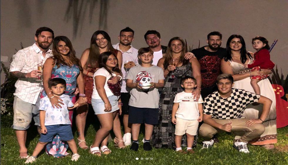 Lionel Messi y su familia. (Instagram)
