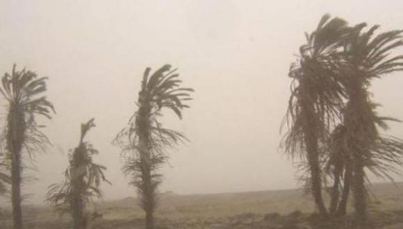Este incremento de viento generará levantamiento de polvo o arena. (Foto: GEC/Archivo)
