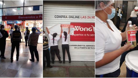 Todos los productos en mal estado fueron decomisados, inmovilizados y conducidos a la Municipalidad de La Molina.