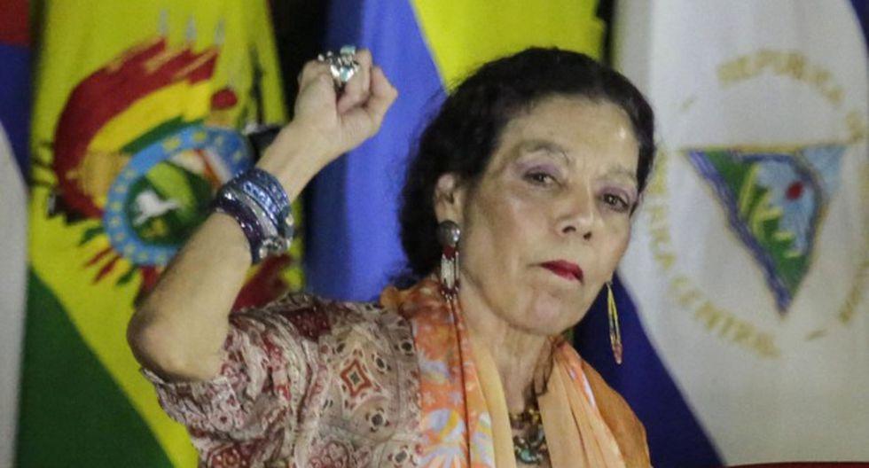 Rosario Murillo, la vicepresidenta de Nicaragua y esposa del mandatario Daniel Ortega. (Foto: AFP)