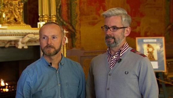 Andrew Wale y Neil Allard serán de los primeros en acceder al matrimonio gay. (Internet)