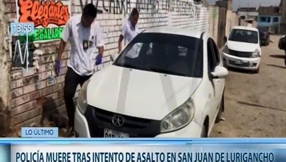 El agente fallecido fue identificado como Freddy Morón Lucaña (Captura: Canal N)