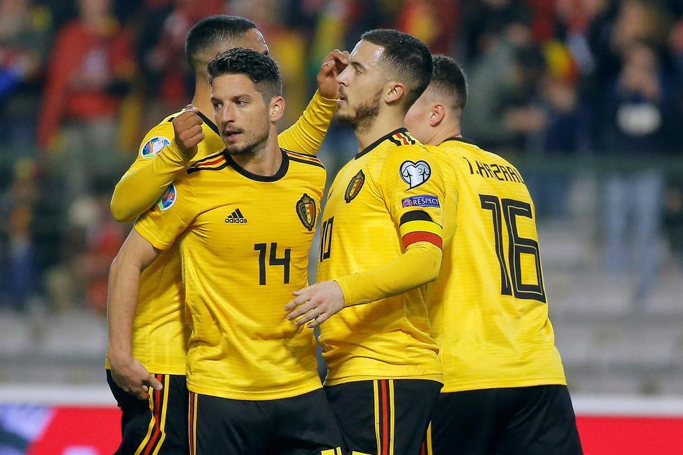 Bélgica derrotó 3-1 a Rusia con doblete de Hazard por las eliminatorias para la Eurocopa 2020. (EFE)
