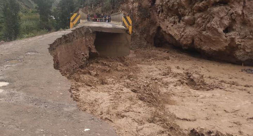 Vías afectadas por incremento del caudal. (Foto: Twitter @Sanchezjoseos)