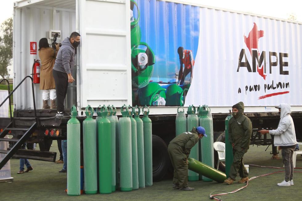 La planta repartirá oxígeno de manera gratuita. (Foto: Jessica Vicente /GEC)