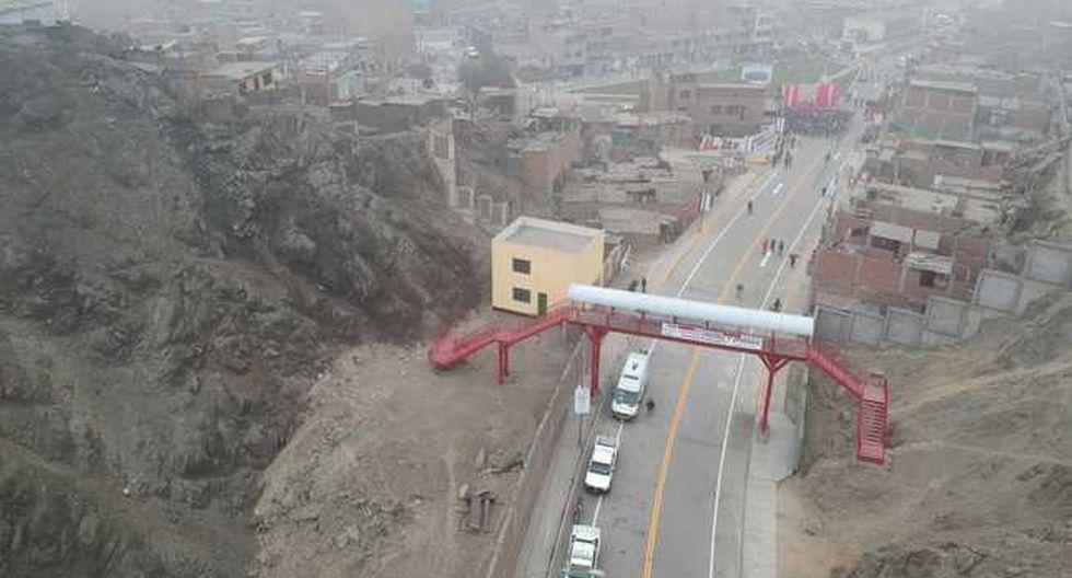 La vía tiene una extensión de 1.3 kilómetros. (Foto: Difusión)