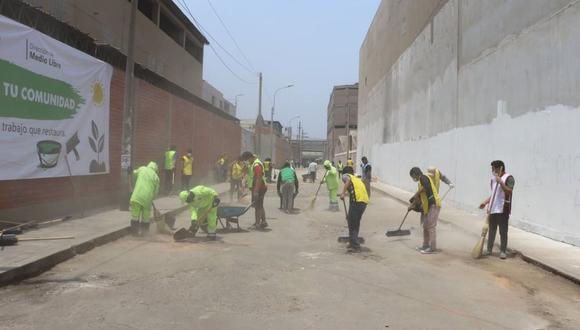 Las labores consistieron en la limpieza de pistas y veredas, así como el pintado de paredes. (Ate)