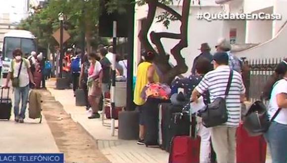 Un total de 500 peruanos repatriados volverán hoy a sus hogares. (Captura)
