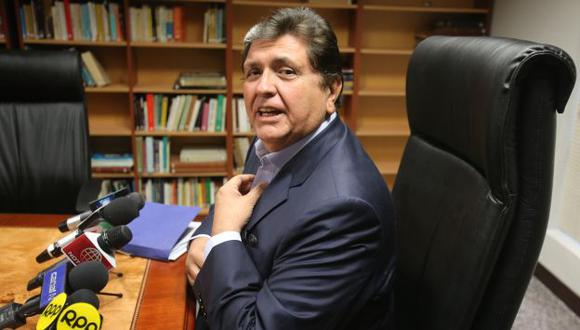 NO LO SUELTAN. García sería nuevamente citado al Congreso por comprar una casa en Miraflores. (Martín Pauca)