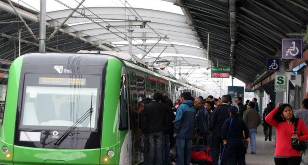 El Metro de Lima es un sistema de transporte masivo en Lima. (GEC)