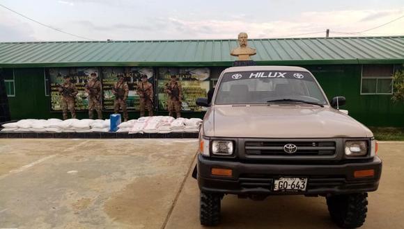 Junín: fueron intervenidas dos camionetas con 800 kilos de insumos para elaboración de droga (Foto: CCFFAAA).