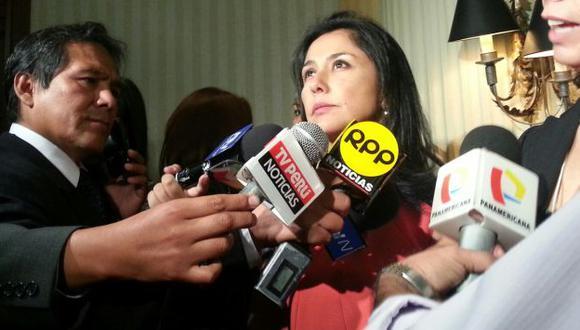 EN CURA DE SILENCIO. La primera dama llegó de Estados Unidos y solo habló de inclusión social. (Fabiana Sánchez)