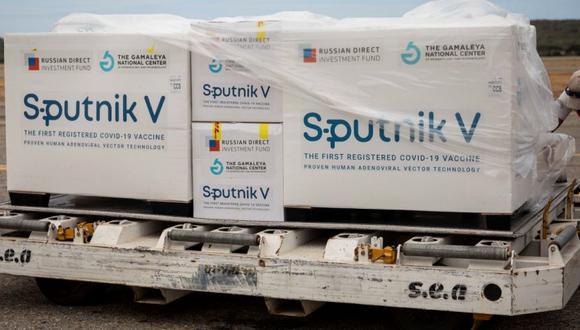 Fotografía de archivo de las cajas con vacunas Sputnik V. EFE/ Rayner Peña R/Archivo