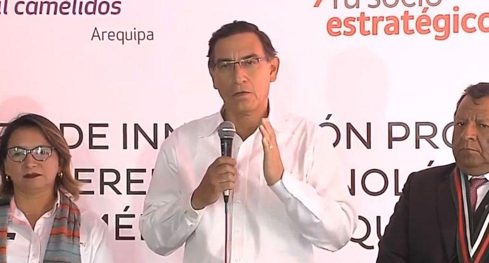 Martín Vizcarra aseguró que el Gobierno hará prevalecer los intereses del Perú ante la demanda de Odebrecht. (Difusión)