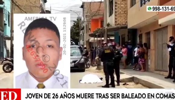 Edward Julio Quispe Larreátegui fue asesinado en la calle San Jacinto. (Foto: América Noticias)