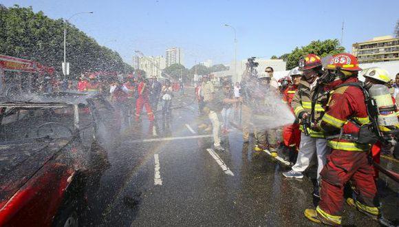 Compañía de Bomberos lamenta fallecimiento de 8 de sus integrantes. (Foto: Presidencia)