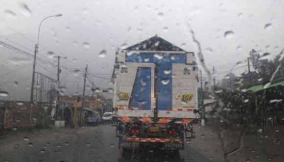 Senamhi pidió a los conductores tomar las precauciones del caso. (Foto: Sutran)
