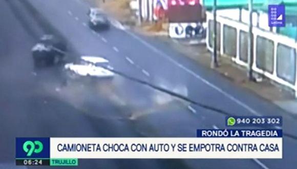El accidente dejó una persona herida. (Foto: Captura/América Noticias)