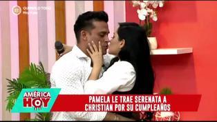 Pamela Franco sorprende a Christian Domínguez con romántica serenata por su cumpleaños