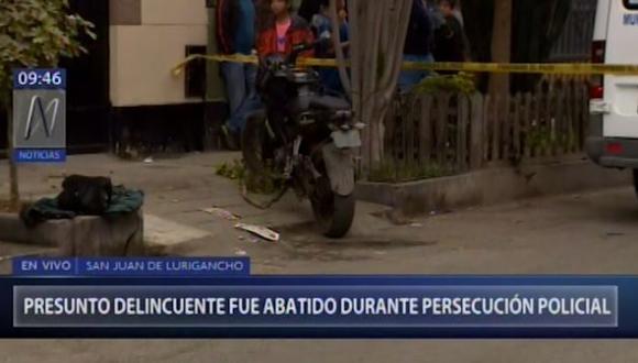 El hecho también dejó a un agente policial herido, identificado como David Pareja Muñoz, quien fue trasladado a un centro médico. (Foto: Captura Canal N)