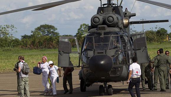 Naves aterrizaron en la ciudad de Villavicencio. (AP)