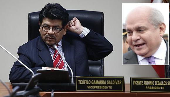 Se suma. Congresista Teófilo Gamarra asegura que también luchará contra el fujimorismo. (César Fajardo)