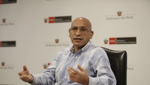 Waldo Mendoza, titular del Ministerio de Economía y Finanzas (MEF). (Foto: César Campos   GEC)