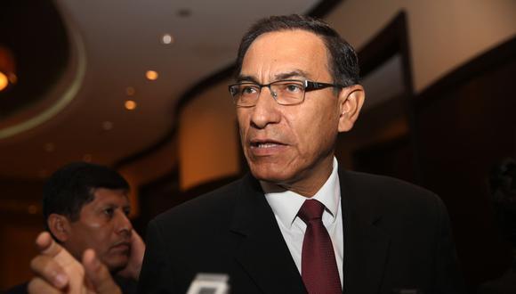 El presidente Martín Vizcarra reiteró su intención de seguir trabajando con Peruanos por el Kambio como bancada oficialista. (Foto: Andina)
