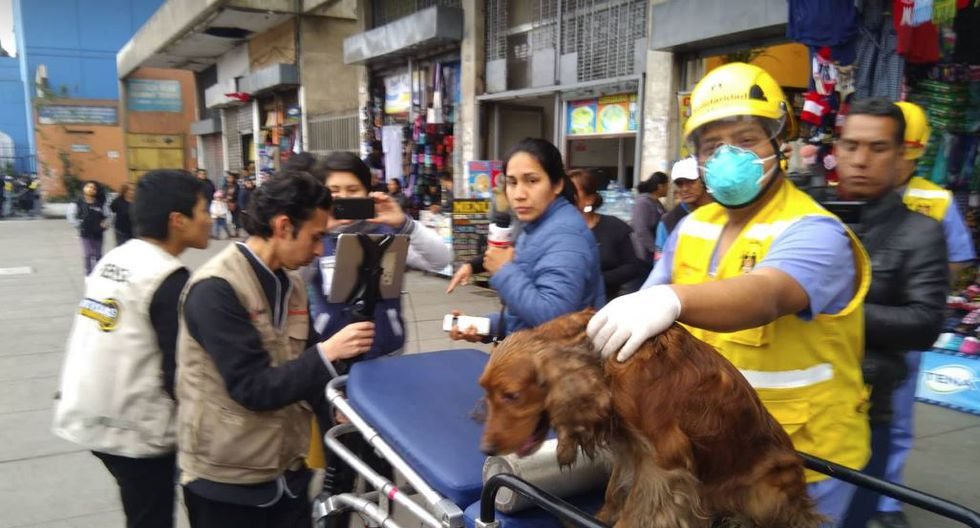 Incendio en edificio de la avenida Abancay en el Cercado de Lima. (Álvaro Treneman/Perú21)
