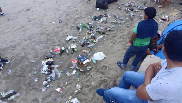 Sofía Mulanovich lamenta estado de playas, tras celebraciones por Año Nuevo. (Facebook)