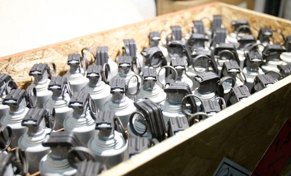 Material de guerra fue extraído del polvorín de la FAP. (Anthony Niño de Guzmán / Referencial)