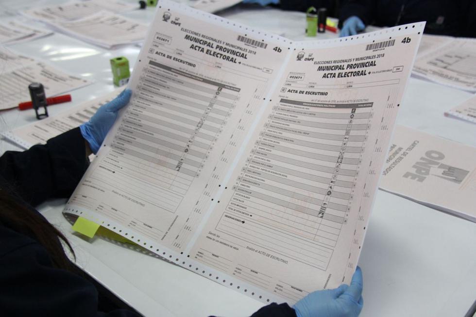 Las actas padrón serán impresas por la ONPE a lo largo de 22 días para que puedan ser enviadas antes de las elecciones del 7 de octubre. (Foto: Andina)