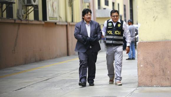 Edwin Oviedo fue internado en el nosocomio por una descompensación. (Perú21)