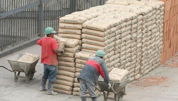 Baja se debe a paralización de algunas obras. (Perú21)