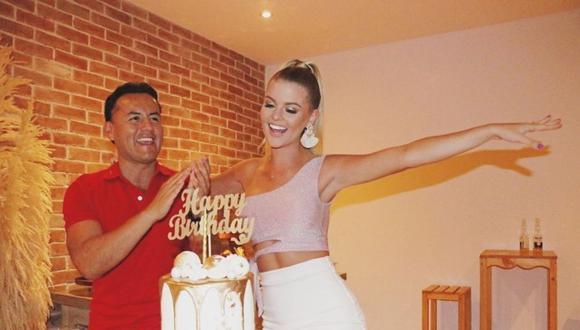 Brunella Horna celebró su cumpleaños por adelantado. (Foto: @richardacuna_)