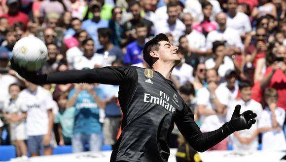 Thibaut Courtois se une al Real Madrid por seis temporadas (Foto: AFP).