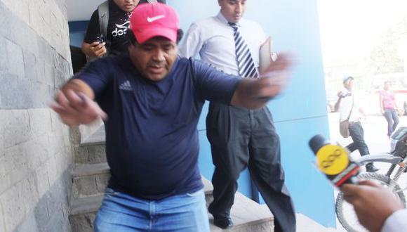 Detenido y liberado. 'Maradona' sostuvo que no acudió a la Fiscalía por problemas familiares. (Juan Mendoza)