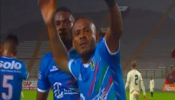Wilmer Aguirre anotó el 1-0 sobre Universitario de Deportes. (Captura: Gol Perú)