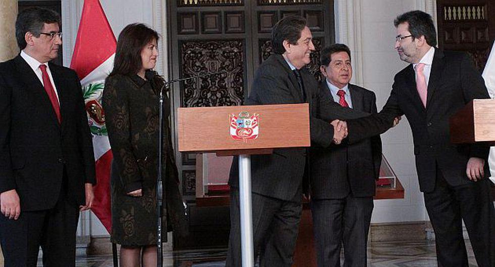 Diálogo de amigos. Dirigentes de Perú Posible en Palacio de Gobierno. (Andina)