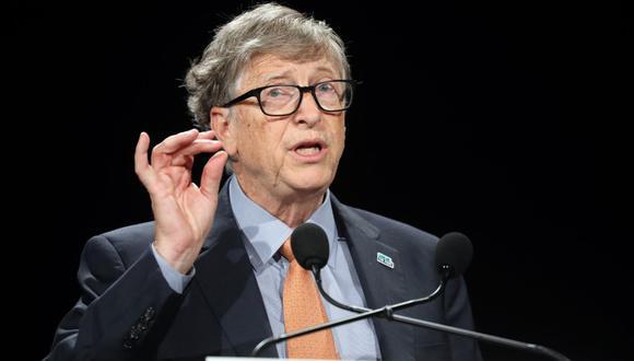 El fundador de Microsoft, Bill Gates, analiza la situación de los proyectos de vacuna contra el coronavirus. (Foto: Ludovic MARIN / AFP)