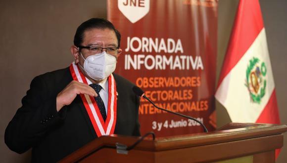 Jorge Luis Salas Arenas saludó la labor de los observadores internacionales. (Foto: JNE)
