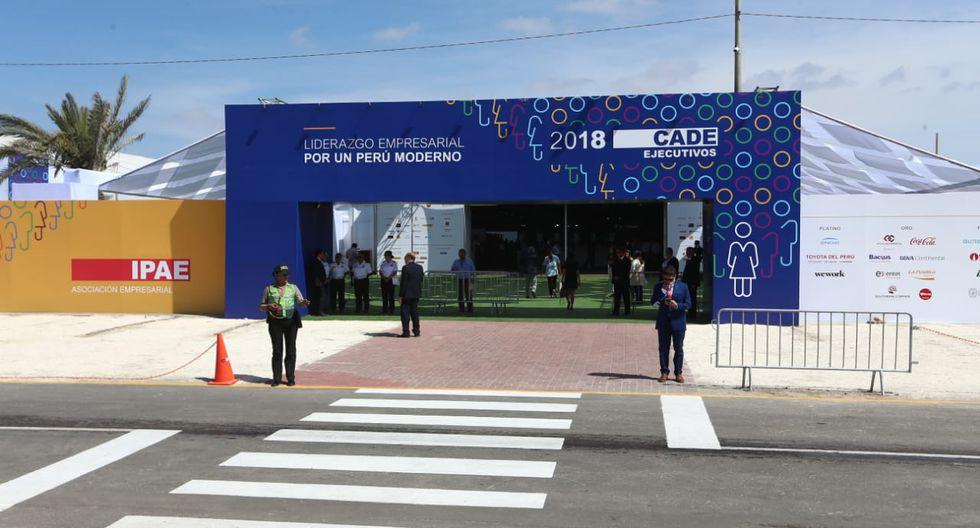 Hoy se inauguró la quincuagésima sexta (56°) edición del CADE Ejecutivos 2018 en Paracas.(Foto: Alessandro Currarino/GEC)