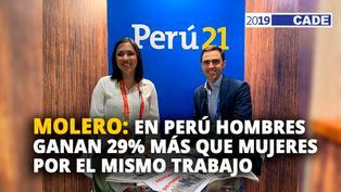Marlene Molero: En Perú hombres ganan 29% más que las mujeres por el mismo trabajo [VIDEO]