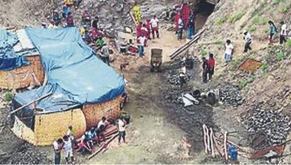 Mina artesanal en la que murió Kamel Sumarán está ubicada en el distrito 0de Pacoy. (GEC)